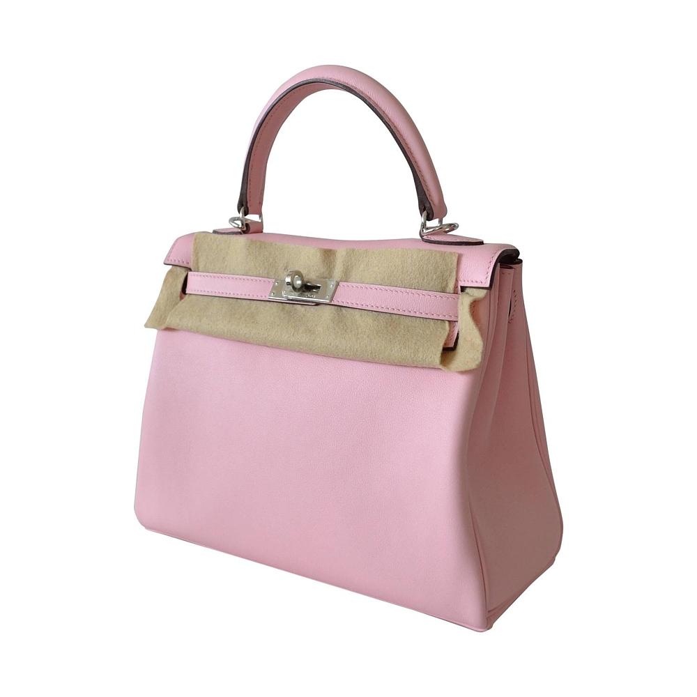 26a21aed24cb Product picture. Product picture. Product Descriptions. Hermes Kelly 25  Rose Sakura Swift leather – Kelly Retourne Palladium hardware ...